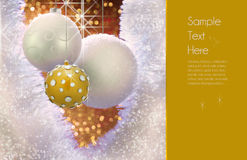 Het gouden Ontwerp van het Ornament van Kerstmis Royalty-vrije Stock Afbeeldingen