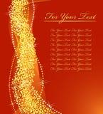 Het gouden ontwerp van Kerstmis. vector illustratie