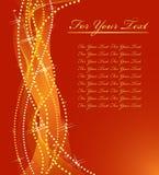 Het gouden ontwerp van Kerstmis. stock illustratie