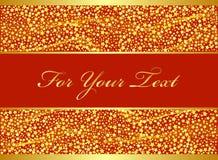 Het gouden ontwerp van Kerstmis. royalty-vrije illustratie