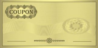 Het gouden ornament van de coupon Stock Foto's