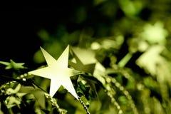 Het gouden ornament van de Kerstmisster Stock Foto's