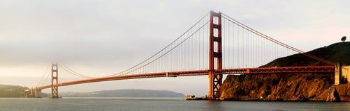 Het gouden Panorama van de Brug van de Poort stock foto's