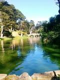 Het gouden Park van de Poort Stock Foto
