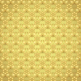 Het gouden Patroon van de Damastbloem op Pastelkleurachtergrond Royalty-vrije Stock Foto's