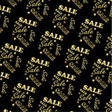 Het gouden patroon van de embleemverkoop, Vector Stock Afbeelding