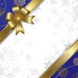 Het gouden perkament van Kerstmis & van het nieuw-Jaar Stock Afbeeldingen