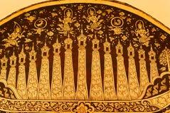 Het gouden schilderen Stock Fotografie