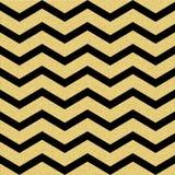 Het gouden schitterende naadloze patroon van de chevrongolf Klassiek zigzagmalplaatje Eps 10 royalty-vrije illustratie