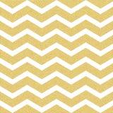 Het gouden schitterende naadloze patroon van de chevrongolf Klassiek zigzagmalplaatje Eps 10 stock illustratie