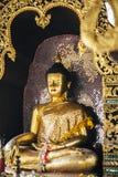 Het gouden standbeeld van Boedha Stock Foto's
