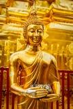 Het gouden standbeeld van Boedha in Wat Phra That Doi Suthep Royalty-vrije Stock Afbeeldingen
