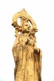Het gouden standbeeld van Boedha in wit Stock Fotografie