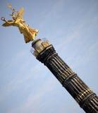 Het gouden Standbeeld van de Engel Stock Fotografie