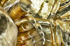 Het gouden standbeeld van voetboedha Royalty-vrije Stock Fotografie