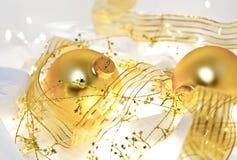 Het gouden Stilleven van Kerstmis Royalty-vrije Stock Afbeeldingen