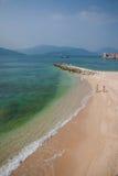 Het Gouden Strand van Lingshui van het grenseiland Stock Fotografie