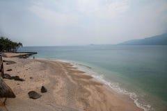 Het Gouden Strand van Lingshui van het grenseiland Stock Foto