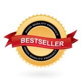 Het gouden teken van de best-seller vector illustratie