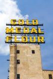 Het Gouden Teken van de Medaillebloem Royalty-vrije Stock Foto's