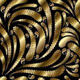 Het gouden uitstekende naadloze patroon van Paisley vector illustratie