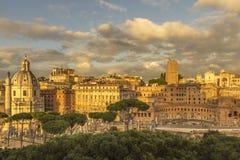 Het Gouden Uur van Rome Stock Foto