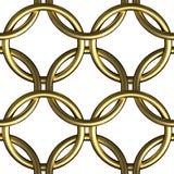 Het gouden van het de ringsnetwerk van de kettingspost naadloze patroon Stock Afbeeldingen