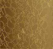 Het gouden vectormalplaatje van de slanghuid luxe abstracte achtergrond van de huid van reptielen, wilde dieren voor reclame, ont stock illustratie