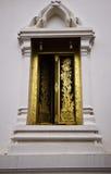 Het gouden venster Royalty-vrije Stock Afbeeldingen