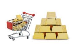 Het gouden winkelen Royalty-vrije Stock Afbeeldingen