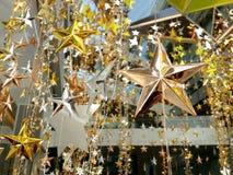 Het gouden zilveren brons speelt decoratie mee Royalty-vrije Stock Foto