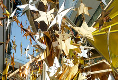 Het gouden zilveren brons speelt decoratie mee Royalty-vrije Stock Foto's