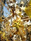 Het gouden zilveren brons speelt decoratie mee Stock Foto