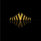 Het gouden zwarte embleem van het etiketontwerp voor bedrijf Royalty-vrije Stock Foto