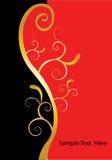 Het gouden zwarte rood van wervelingen Stock Foto