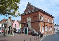 Het Graafschap Hall Woodbridge Suffolk Stock Afbeelding