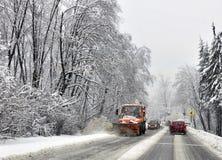 Het graafwerktuig van de sneeuw stock afbeelding