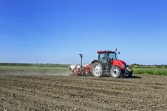 Het graan van tractorzeugen Royalty-vrije Stock Fotografie