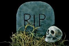 Het graf en de schedel van Halloween Stock Afbeeldingen