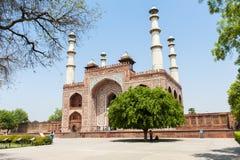 Het graf van Akbar, Agra, India Stock Foto