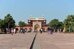 Het graf van Akbar Groot, Agra Stock Afbeelding