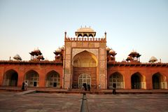 Het Graf van Akbar in Sikandara, Agra Stock Fotografie