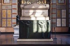 Het graf van Alessandro Manzoni ` s Royalty-vrije Stock Afbeeldingen