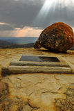 Het graf van Cecil J. Rhodes ' in Matobo royalty-vrije stock afbeelding