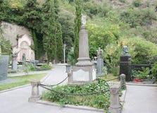 Het graf van de Georgische dichter Nikoloz Baratashvili Royalty-vrije Stock Fotografie