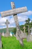 Het graf van de houten dwars slechte pauper Royalty-vrije Stock Foto's