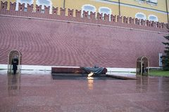 Het Graf van de Onbekende Militair, Moskou, Rusland royalty-vrije stock fotografie