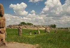 Het graf van de steen Stock Afbeelding