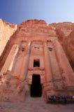 Het Graf van de urn. Petra, Jordanië Stock Foto