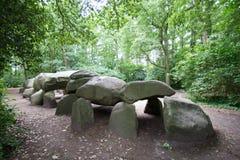Het graf van dolmen Stock Foto